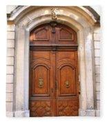 A Door In Arles Fleece Blanket