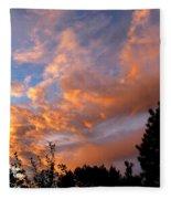 A Dramatic Summer Evening 2 Fleece Blanket