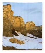 A Dusting On Monument Rocks Fleece Blanket