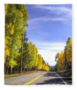 A Fall Drive  Fleece Blanket