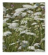 A Field Of Queen Annes Lace Fleece Blanket