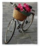 A Flower Delivery Fleece Blanket