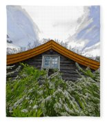 A Flowery House In Norway Fleece Blanket