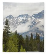 A Forest And The Rocky Mountains Fleece Blanket