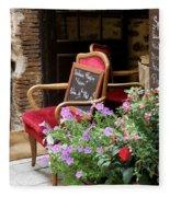 A French Restaurant Greeting Fleece Blanket