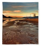 A Frozen Shore Fleece Blanket
