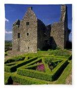 A Garden In Front Of Tully Castle Near Fleece Blanket