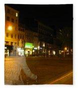 A Ghost Of Antwerp. Belgium. Fleece Blanket