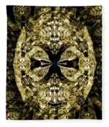 A Gothic Guise Of Gold Fleece Blanket