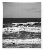 A Gray November Day At The Beach - II  Fleece Blanket