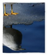 A Gull Reflects Fleece Blanket