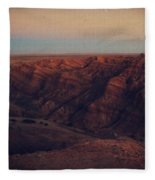 A Hot Desert Evening Fleece Blanket