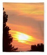 A June Sunrise Fleece Blanket