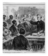 A Jury Of Whites And Blacks Fleece Blanket