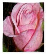 A Kiss By A Rose Fleece Blanket