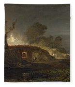 A Lime Kiln At Coalbrookdale Fleece Blanket