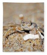 A Little Crabby Fleece Blanket
