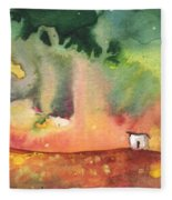 A Little House On Planet Goodaboom Fleece Blanket