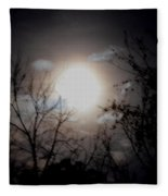 A Lunar Silhouette Fleece Blanket
