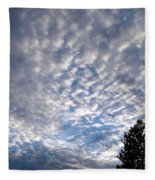 A Mackerel Sky Fleece Blanket