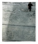 A Man Walked Visible From Above Fleece Blanket