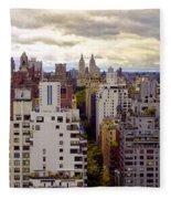 A Manhattan View Fleece Blanket