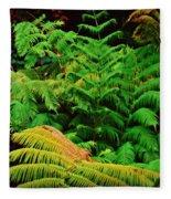 A Mass Of Ferns Fleece Blanket