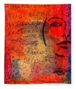 A Mind Cries Fleece Blanket