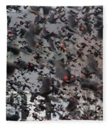A Mob Of Red-winged Blackbirds Fleece Blanket