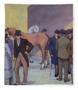 A Morning At Tattersall's Fleece Blanket