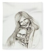 A Mothers Love Fleece Blanket
