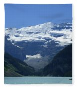A Mountain Range With A Lake In The Fleece Blanket