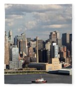 A New York City Afternoon Fleece Blanket