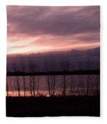 A Night Of Pink Fleece Blanket
