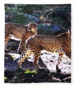 A Pair Of Cheetah's Fleece Blanket