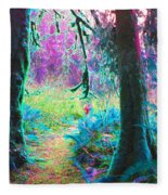 A Path Along A River Fleece Blanket
