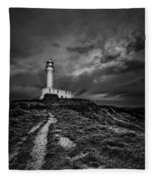 A Path To Enlightment Bw Fleece Blanket