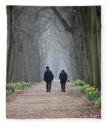 A Peaceful Stroll Fleece Blanket