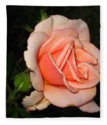 A Peach Of A Rose Fleece Blanket