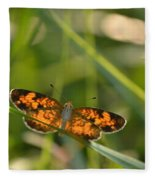 A Pearl In The Grass Fleece Blanket