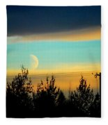 A Peek At The Moon Fleece Blanket