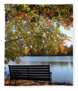 A Place For Thanks Giving Fleece Blanket