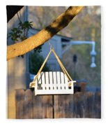 A Place To Perch Fleece Blanket