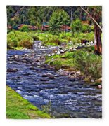 A Place Without Time Fleece Blanket