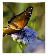 A Queen Butterfly  Fleece Blanket