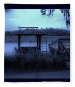 A Quiet Place By The Marsh Fleece Blanket