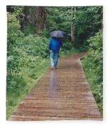 A Rainey Day In Alaska Fleece Blanket