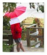 A Rainy Summer's Day Fleece Blanket