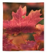 A Red Fall  Fleece Blanket