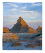 A Red Sunrise Illuminates The Hills In Fleece Blanket